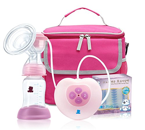 Electronic Breast Feeding Set Automatic Breast Pump Single Electric Breast Pump With Mummy Bag+ Temperature Sensing Storage Bags