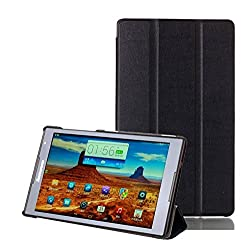 SPL Premium PU Leather Black Book Stand Cover for Lenovo S8-50f Tablet S8 8-inch