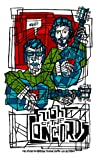 Flight Of The Conchords @ Seattle, 2009 - Mounted Poster