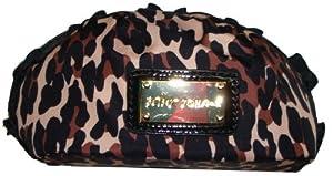 Betsey Johnson Women's/Girl's Cosmetic/Make-up Bag, Small, Cheetah Punk Natural