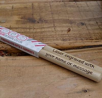 Personalised Drumsticks, Laser Engraved Drum Sticks, Made from top grade hard wearing Maple