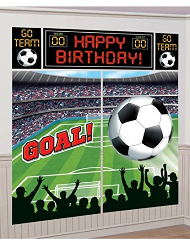 Soccer Scene Setter Wall Decorating Kit - 1