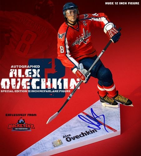 Alexander Ovechkin Washington Capitals Signed Special Edition 12 Inch McFarlane Figurine - Autographed NHL Figurines