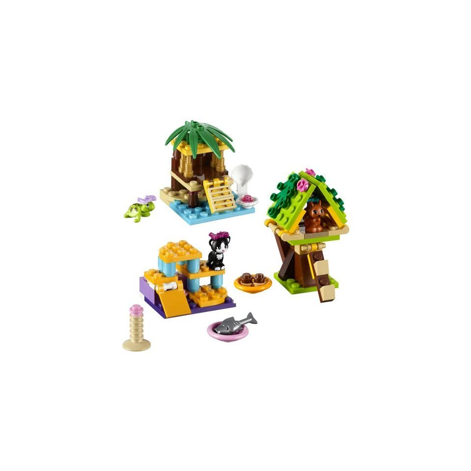 LEGO Friends Series 1 Complete Set Turtle's Little Oasis; Cat's Playground; Squirrel's Tree House Toys & Games