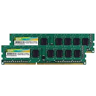 SP シリコンパワー デスクトップPC用メモリ 8GB×2枚組 240-Pin DDR3-1600 PC3-12800 (無期限保証) SP016GBLTU160N22