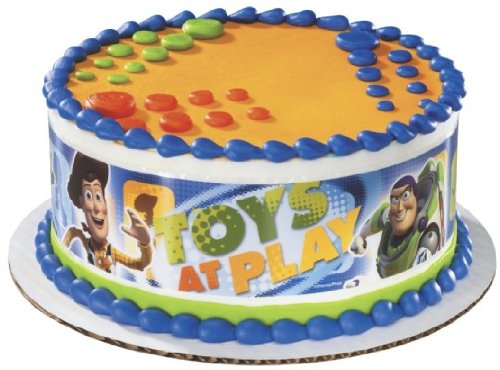 Edible Cake Images Review : Toy Story Edible Cake Border Decoration - Disney toy story