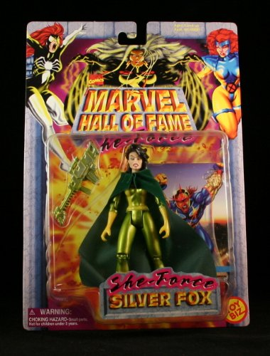 SILVER FOX Marvel Comics Hall Of Fame SHE-FORCE Series 1997 Action Figure and Collector Trading Card - 1