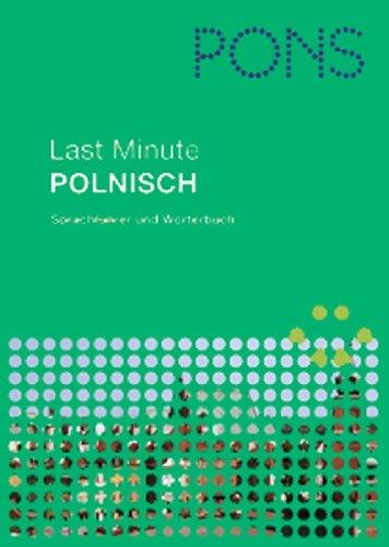 PONS Last Minute Sprachführer Polnisch: Sprachführer und Wörterbuch