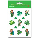Leprechaun Stickers Party Accessory (1 count) (4 Shs Pkg)