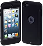 Cimo ArmorGuard Series Case for Apple iPod Touch 5 with Built-in Screen Protector – Black