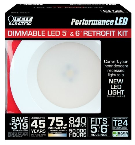 Feit Ledr56/3K Led 5-Inch To 6-Inch Dimmable Retrofit