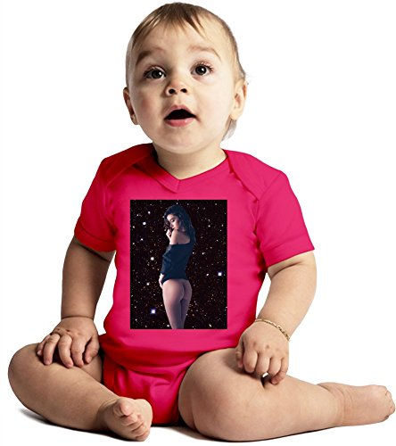 Paula Bulczynska Galaxy Amazing Quality Baby Bodysuit by True Fans Apparel - Made From 100% Organic Cotton- Super Soft V-Neck Style - Unisex Design- Perfect As A Present 3-6 months