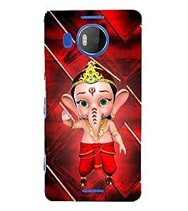 Little Ganesh 3D Hard Polycarbonate Designer Back Case Cover for Nokia Lumia 950 XL :: Microsoft Lumia 950 XL
