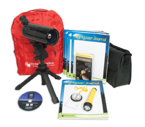 Delta Education 201-2526 Portable Telescope Kit, 75X Zoom
