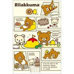 San-x Rilakkuma Mini Double File Folder Yellow