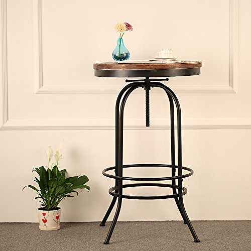 IKAYAA-Rund-Stehtisch-Bistrotisch-mit-Kiefer-Tischplatte-und-Metallrahmen-Durchmesser-60-cm