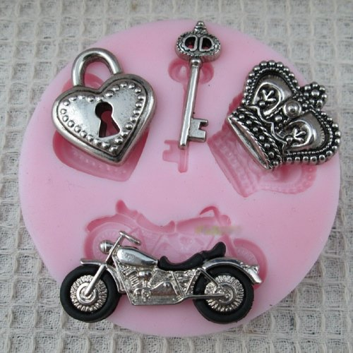 hardware-for-you-ltd-1-bike-crown-key-lock-cake-fondant-mould-decoration