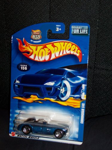 Hot Wheels 2002 156 No Series Cunningham C4R on 35th Anniversary Shield Card - 1