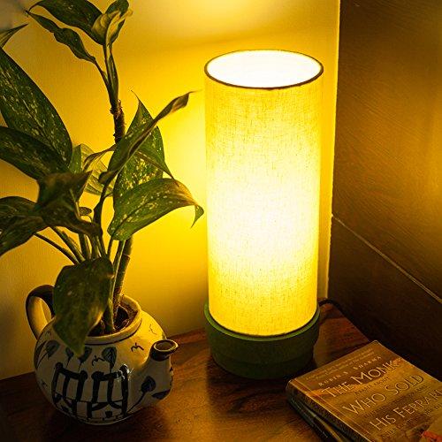 ExclusiveLane 14Inch Wooden/Decorative/Unique Lamp Green