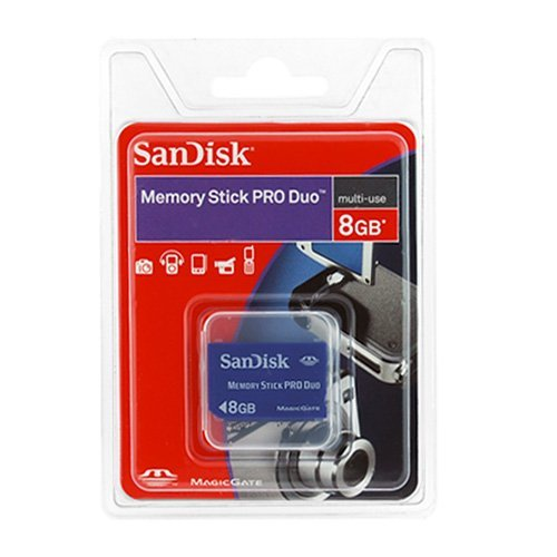 Price Comparisons SanDisk 8GB Memory Stick PRO Duo Memory Card for Sony PSP20 # Wasbak Pro Duo_113022