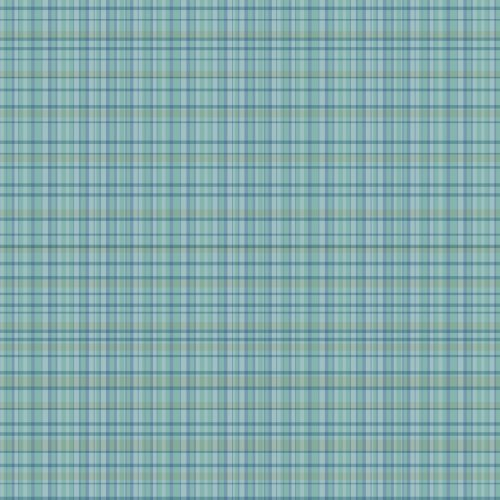 WallCandy Arts Wallpaper, Plaid Blue