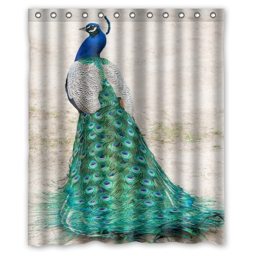 Cozybath Peacock Waterproof Polyester Fabric 60 Shower