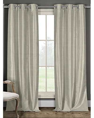 Duck River Set of 2 Daenerys 84 Faux Silk Thermal Black Out Grommet Panels, Taupe