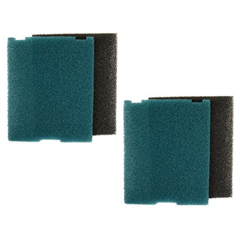 Hqrp 2-Pack Coarse And Fine Flat Box Filter Foam Pads For Tetra Fk5 /#26593, Fk6 / #26598 Filtration Fountain Kits + Hqrp Coaster