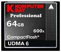 KOMPUTERBAY 64GB Professional COMPACT FLASH CARD CF 600X 90MB/s Extreme Speed UDMA 6 RAW 64 GB