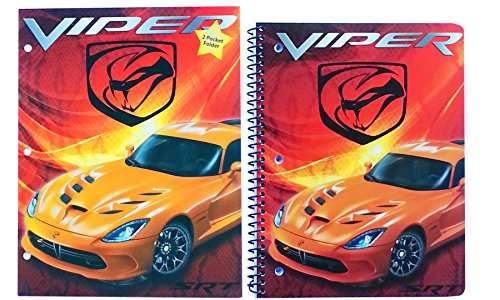 viper-srt-2015-pocket-folder-and-spiral-bound-notebook