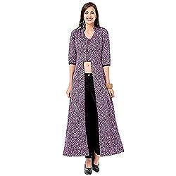 Eavan Women's Casual Wear Purple Printed Top Polyester Top