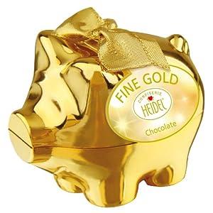 Confiserie Heidel GOLD-Sparschwein, 1er Pack (1 x 75 g Packung)