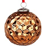 EarthenMetal Handcrafted Bronze Coloured Christmas Decoratives / Glass Hanging Ball-5inch