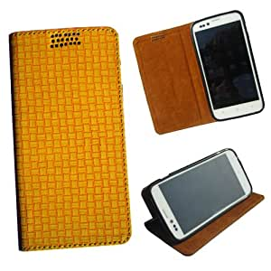 i-KitPit - New Design PU Leather Flip Case For Lava Xolo q1000 / A1000 (YELLOW)