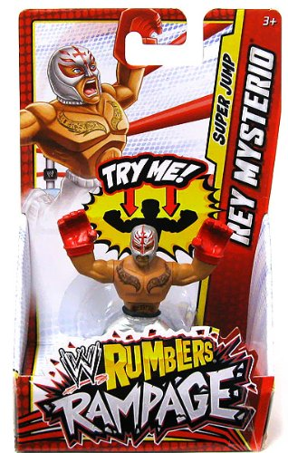 WWE Wrestling Rumblers Mini Figure Rey Mysterio [Super Jump] - 1