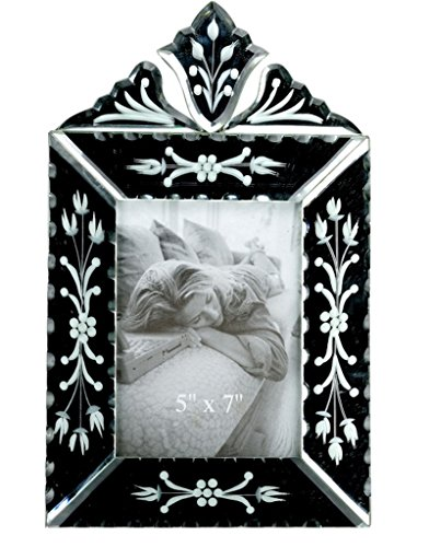 The Art Treasure Mirror Photo Frame Décor Etched Mirror