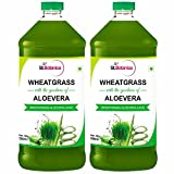 St.Botanica Wheatgrass With Aloevera Juice - Natural With No Sugar Added - 500ml - 2 Bottles