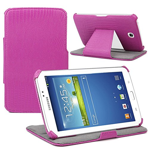 Evecase Slim-Fit Multi-Angle Stand Folio Cover Case for Samsung Galaxy Tab 3 7.0 - 7