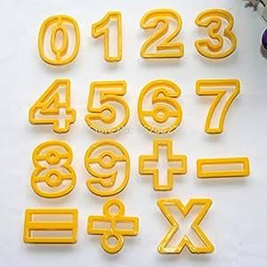 Cutter Number Digital Symbol Cookie Stamp Moldes: Kitchen & Dining