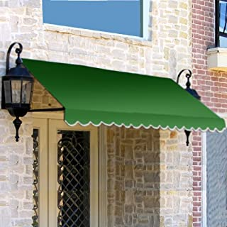 Awntech 3-Feet Dallas Retro Awning, 31 by 24-Inch, Forest Green