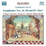 ハイドン:交響曲第41, 58, 59番