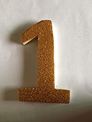 Glitter Number 1 Thermocol base