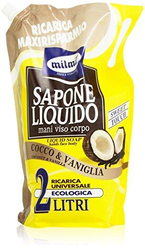 Milmil - Sapone Liquido, Cocco & Vaniglia, 2 l