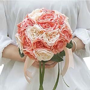 20Pcs Beautiful Artificial Flowers Wedding Bouquet Bride