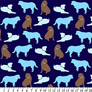 Solid Dogs Anti-pill Fleece (Blue) Perfect for making no-sew blankets!