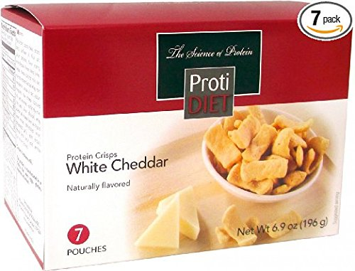 Proti Diet White Cheddar Protein Crisps (7 Pouches) (Come Ready Protein Bars compare prices)