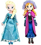 Disney Frozen Sisters Doll Set Featuring 20 Plush Dolls of Anna and Elsa