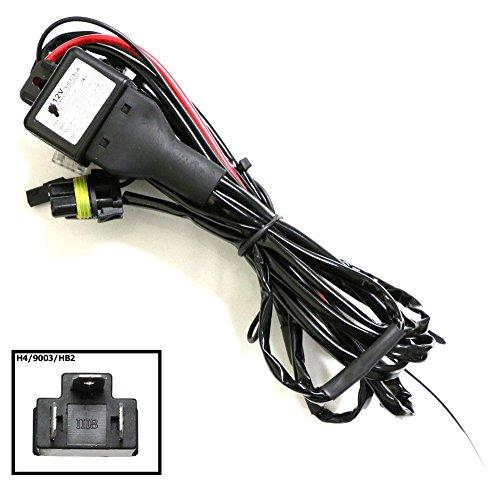 Ijdmtoy® 12V 35W H4 9003 Hi/Lo H/L Bi-Xenon Hid Conversion Kit Relay Harness Wiring Controller