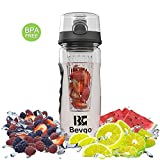 Infuser Water Bottle - 32oz - Made Of Durable Eastman Tritan - By Bevgo