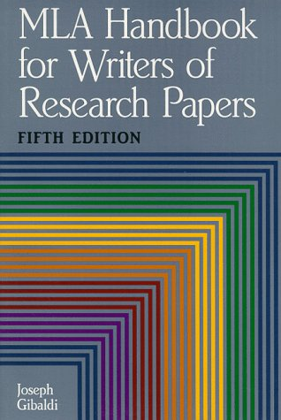 MLA Handbook for Writers of Research Papers, Fifth Edition (Mla Handbook for Writers of Research Papers)